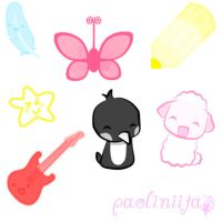 Cute Brushes for photoshop by patito15