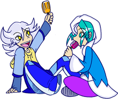 Wallace and Zero, BFFs by denkimouse