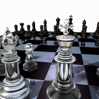 Chess Set Created in Blender by BraveSirKevin