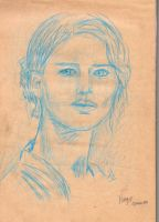 Sketch Katniss Hunger games by yassou31