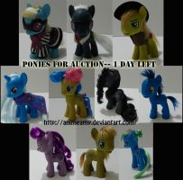 Custom Ponies For Auction On Ebay.. One Day Left by AnimeAmy