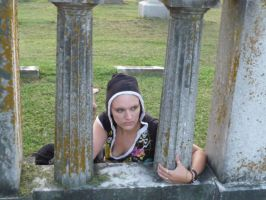 More of Rogue at the Cemetery by Scroll-n-Frog