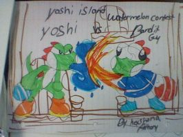 yoshi island watermelon contest for Matia by keke18