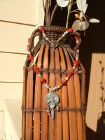 Red-Shouldered Hawk Necklace by tiertza