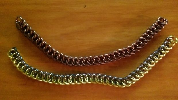 MLP Themed Chainmail Bracelet Dr Whooves and Derpy by TheGiantsnoll