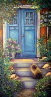 Pataholm Sweden Blue Door by carefulwhatyawishfor