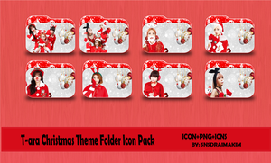 T-ara Christmas Theme Folder Icon Pack by SNSDraimakim