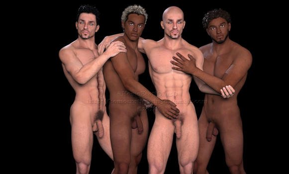 male model nude twin