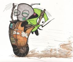 Claptrap vs Grrr by TheMonkeyLord