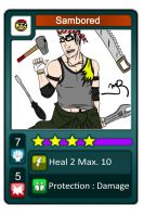 Fake Urban-Rivals Card : Sambored by Spipme