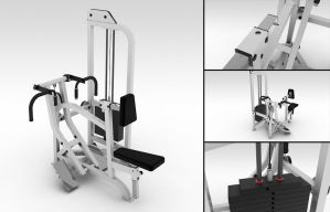 Seated Row Machine by Mnollock