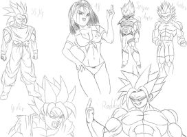 Some of my sketches by Gothax