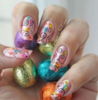 Nail Art Paques by Lizananails