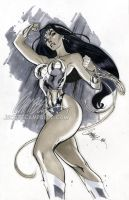 "Wonder Woman ""Gray"" by J-Scott-Campbell"