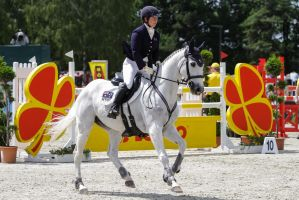 3DE Show Jumping Phase Stock 112 - Snow White by LuDa-Stock