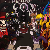 YCH Prince of Body horror's tea party by VonderDevil