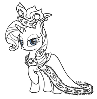 Requested- Princess Rarity Platinum by Bigshot232