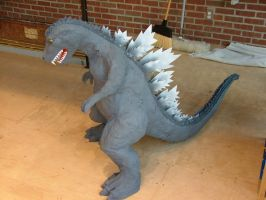 Godzilla Paper Mache Final by hypergojira