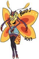 Moth girl (Paypal adoptable) by Rolly-Joger-Adopts