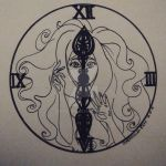 The girl in the clock by EridiaErin