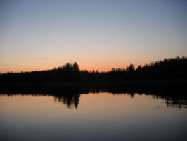 Sunset: Willow Flowage, WI by Demodocus