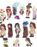 Naruto chibis evil edition by therichnobody