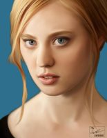 Jessica True Blood Painting by frostdusk