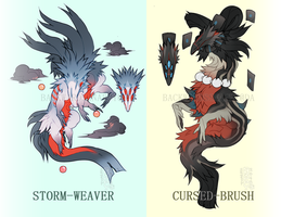 Storm-Weaver + Cursed-Brush [SOLD] by BackwardsSnappy