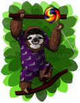 Lolly Sloth by JolieBonnetteArt