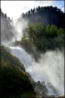 Odda Waterfall by ThoughtMemory