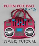 Sewing Tutorial - Boom Box Bag by SewDesuNe