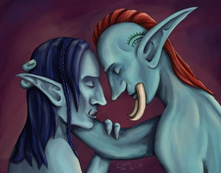 Troll couple by MaybeEvans
