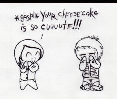 Gerard and his Cheesecake by GeeFreak
