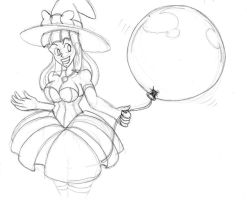 Edelinde and a Balloon by bouncymischa