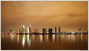 San Diego Skyline at Night by Bemused-Nomad