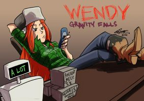 Gravity Falls - Wendy by eisu