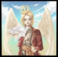 APH: With an eagle by Fenrin-kun