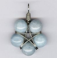 Aquamarine Small Star Pendant by LWaite