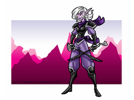 Dark Elf Ranger by mindflenzing