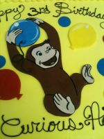 Curious George Fondant Cut-Out Close Up by Spudnuts