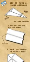 How to make a paper airplane. by Kubah