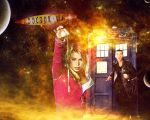 Doctor Who Wallpaper - 9th Doctor and Rose by WERA1166
