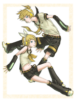 Vocaloid Kagamine by avodkabottle