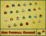Pokemon - Mini Pokeball Charms by YellerCrakka