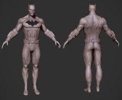 Batman WIP shot #2 by PatrickvanR