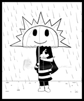 Only happy when it rains -b.w- by CircusMonsters