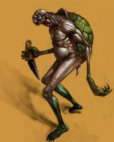 Turtle man concept by Cgko