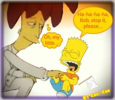 Bob is tickling Bart by BORTfan