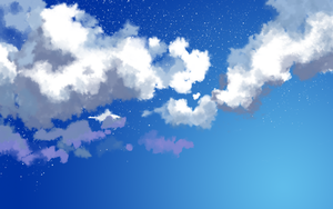 Nightsky clouds by Un-zoon