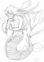 Hichigo-mermaid sketch by Lilinett